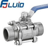 Three-pieces Male Threaded Ball Valve