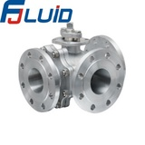 3-way Flanged Ball Valve