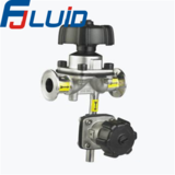 Stainless Steel Sanitary Clamped Diaphragm Valve with Drain