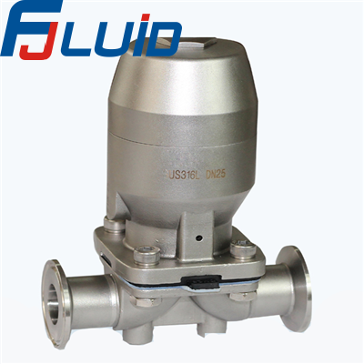 气动快装隔膜阀Pneumatic Clamped Diaphragm Valve