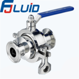 Clamped Conventional Non-retention Ball Valve