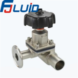 卫生级不锈钢三通隔膜阀Sanitary Stainless Steel Three-way Diaphragm Valve