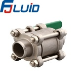 Welded 3 pcs ball valve