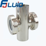 Stainless Steel Sanitary Cross sight glass