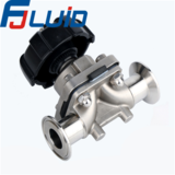 手动盖米隔膜阀Clamped Manual Diaphragm Valve